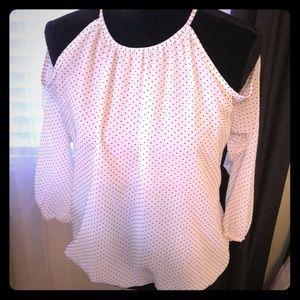 NWT, cold shoulder halter blouse, M